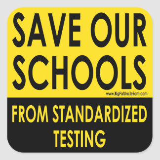 Save Our Schools Square Sticker