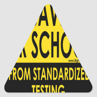 Save Our Schools Triangle Sticker