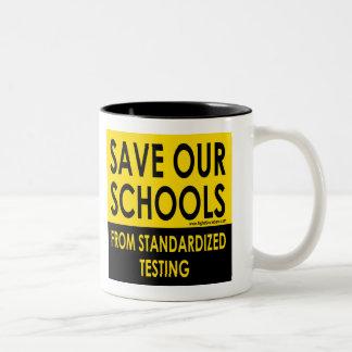 Save Our Schools Two-Tone Coffee Mug