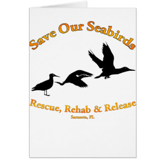 Save Our Sea Birds of Sarasota Florida Card