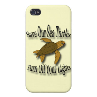 Save Our Sea Turtles black Cover For iPhone 4