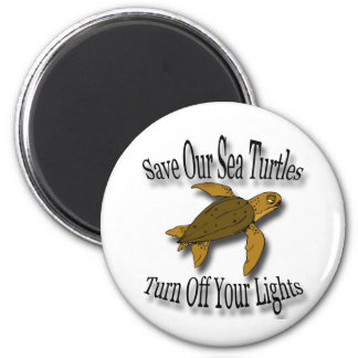 Save Our Sea Turtles black Magnet