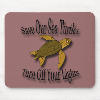Save Our Sea Turtles black Mouse Pad