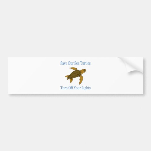 Save Our Sea Turtles blue Bumper Sticker