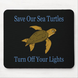 Save Our Sea Turtles blue Mouse Pad