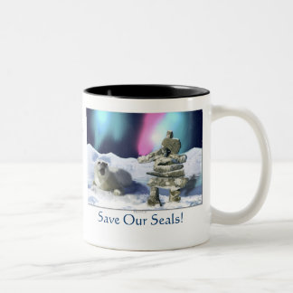 """Save Our Seals!"" Harp Seal Protection Mug"