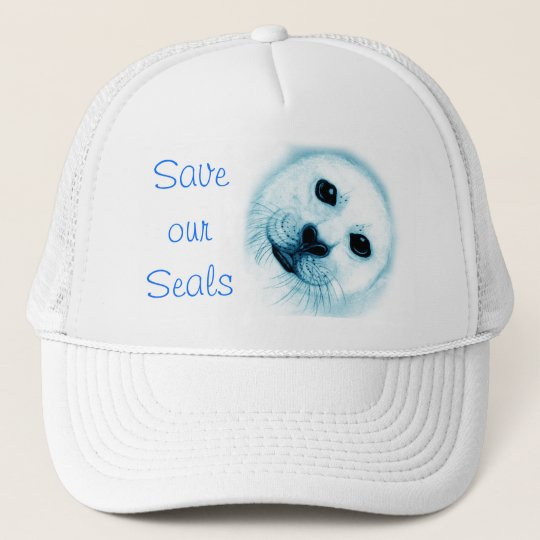 'Save our Seals Harp Seal Trucker Hat
