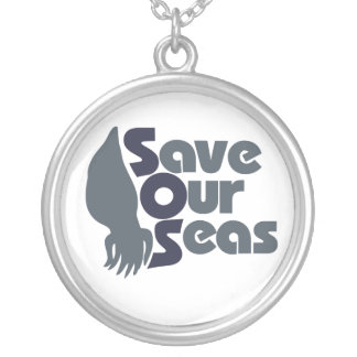 Save our Seas Silver Plated Necklace