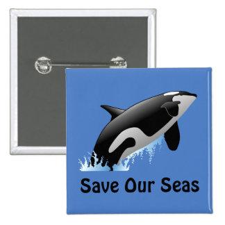 Save Our Seas Whale Button
