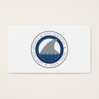 save our sharks business card