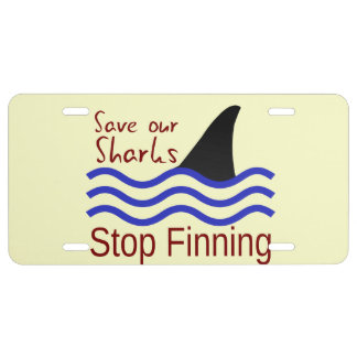 Save our Sharks License Plate
