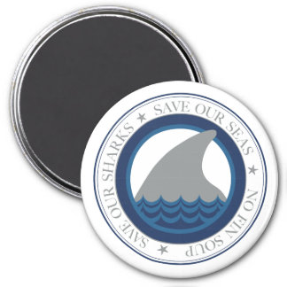 save our sharks magnet