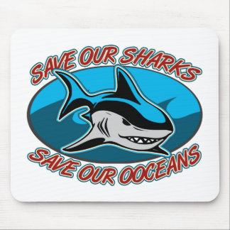 Save Our Sharks Mouse Pads