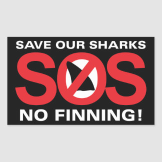 Save Our Sharks No Finning Sticker Glossy