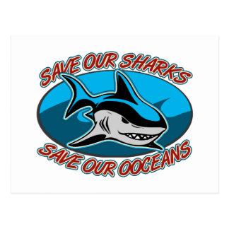 Save Our Sharks Postcard