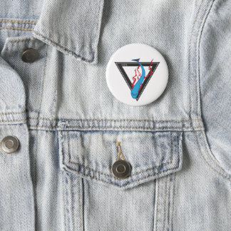save our sharks SOS triangle Pinback Button