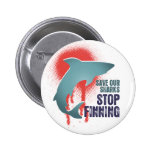 Save Our Sharks Stop Finning 2 Inch Round Button