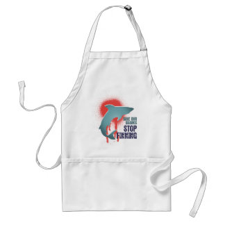 Save Our Sharks Stop Finning Adult Apron
