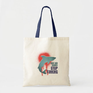 Save Our Sharks Stop Finning Budget Tote Bag