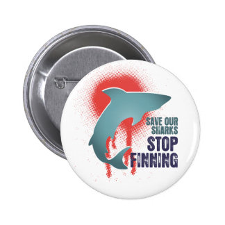 Save Our Sharks Stop Finning Pinback Buttons