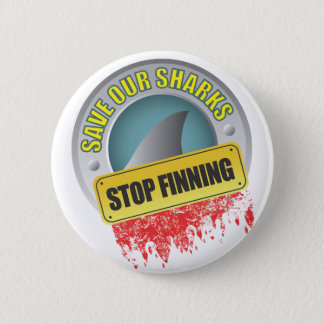 Save Our Sharks Stop Finning Button