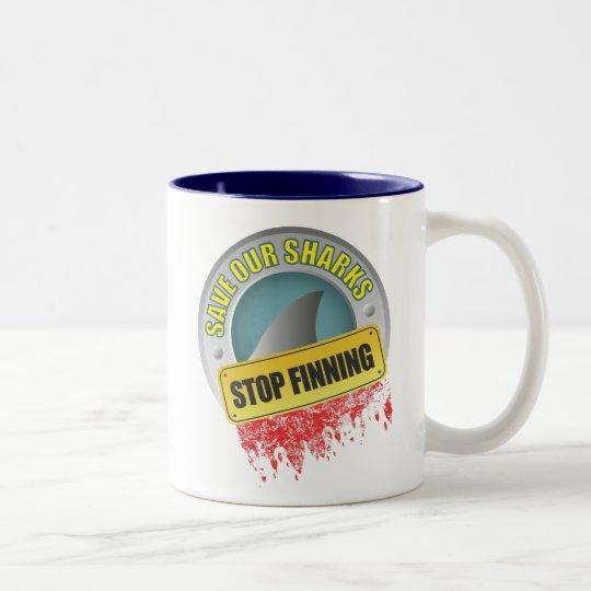 Save Our Sharks Stop Finning Mug