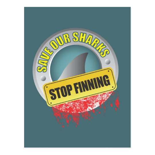 Save Our Sharks Stop Finning Postcard