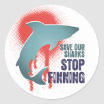 Save Our Sharks Stop Finning Round Sticker