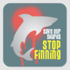 Save Our Sharks Stop Finning Square Sticker