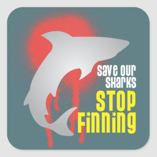 Save Our Sharks Stop Finning Sticker