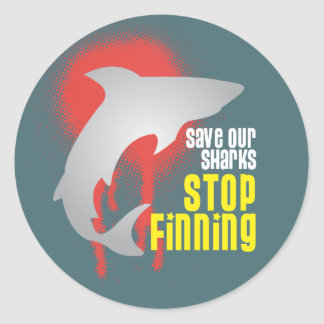 Save Our Sharks Stop Finning Stickers