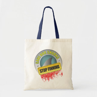 Save Our Sharks Stop Finning Tote Bag