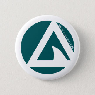 save our sharks tricircles pinback button