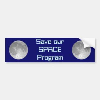 Save Our SPACE Program Bumper Sticker