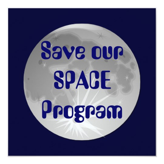 Save our SPACE Program Invitations