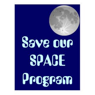 Save Our SPACE Program Postcard