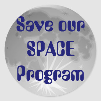 Save Our SPACE Program Sticker