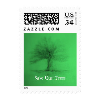 Save Our Trees  Custom Stamp