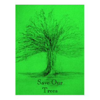 Save Our Trees Postcard