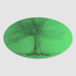 Save Our Trees Sticker