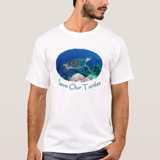 Save Our Turtles Mens T Shirt