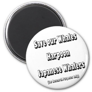 Save our Whales 2 Inch Round Magnet