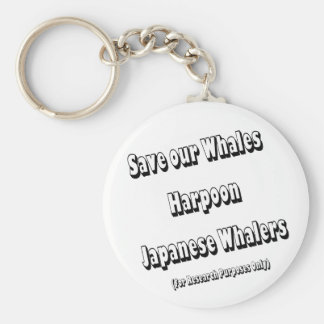 Save our Whales Basic Round Button Keychain