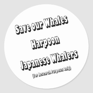 Save our Whales Classic Round Sticker