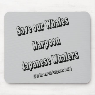 Save our Whales Mouse Pad