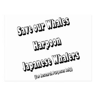 Save our Whales Postcard