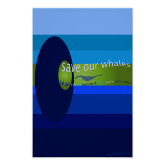 Save Our Whales Poster