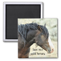 Save our Wild Mustangs of the West Magnet