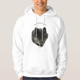 SAVE OUR WILD WOLVES Wildlife Supporter Hoodie