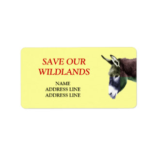 Save Our Wildlands 2 - American Southwest Burro Label